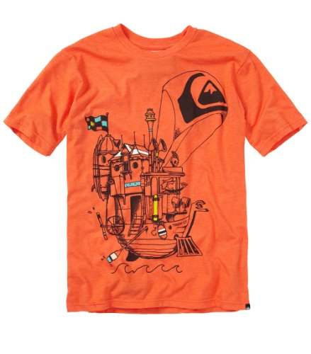Quiksilver Kids Sail Away Short-Sleeve Shirt, Popsicle Heather, 5