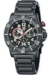 Luminox Men's Dive Chrono Ion Plated SS Watch - Black