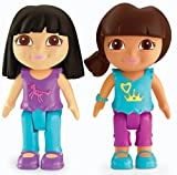 Fisher Price X2870 Dora The Explorer Playtime Together - 7cm Figure 2-Pack