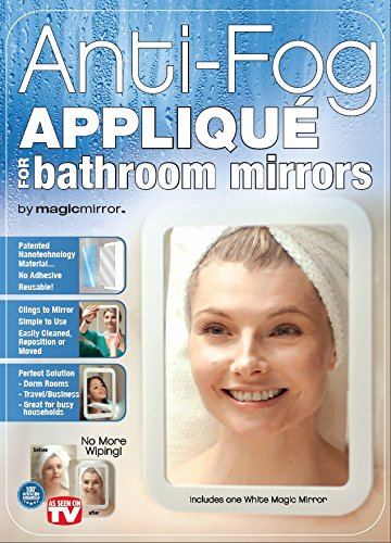 Magic Mirror Anti-Fog Appliqué For Bathroom Mirrors - As Seen On Tv