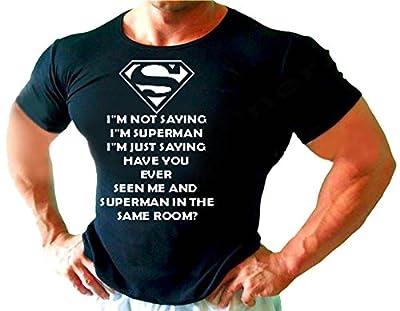 CADEAU AMUSANT PREZENT SUPER MAN V?TEMENTS entra?nement bodybuilding noir T