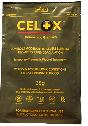 Celox V12090-35 Blood Clotting Solution Pouch, 35 Gram