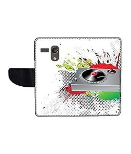 KolorEdge Printed Flip Cover For Motorola Moto G Multicolor - (45KeMLogo11988MotoG)