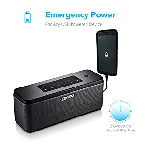 SHARKK WAVE 25W Bluetooth Speaker with Advanced MaxxBass Technology and 6600mAh Battery Powerbank Wireless Portable Speaker Perfect Home Speaker