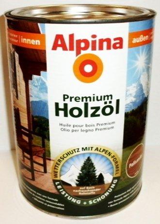 Alpina Premium Holzöl, 2,5 L., Innen & Außen, Palisander