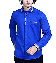 Bucci Men's Casual Shirt _bc104_Royal blue_L