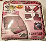 51EfovMPvEL. SL160  Premium New Style Pink Leopard 11pc Low Back Front Seat Covers, Bench Seat Cover with Head Rest, Steering Wheel Cover with Shoulder Pads