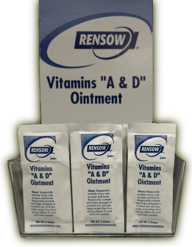 Rensow Super Vitamins A & D Ointment - 144 Foil Packets - 5 Grams/ea. - 1