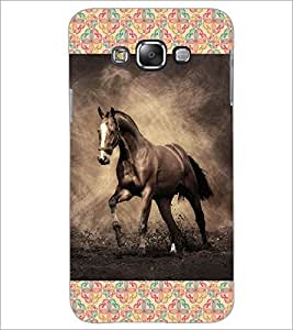PrintDhaba Horse D-6025 Back Case Cover for SAMSUNG GALAXY GRAND 3 (Multi-Coloured)