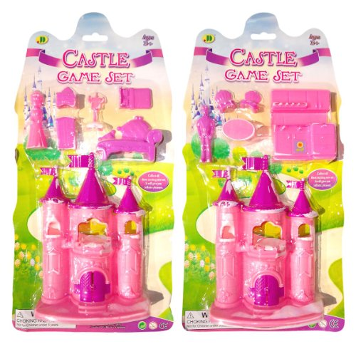 Best Princess Pretend Play Castle Set Of 2 Popular Stocking Stuffer Gift Ideas For Girls - Prince & Kitchen Castle, Princess & Bedroom Castle(Castle 2 Pack) front-256965
