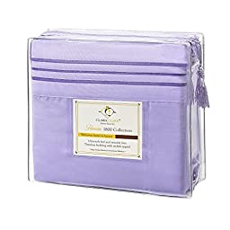 Clara Clark 4 Piece 1800 Series Premier Sheet Set, Queen, Lavender by Clara Clark