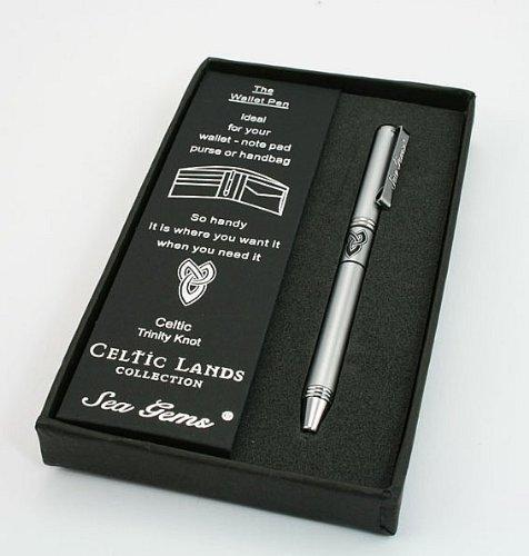 Lj Designs Celtic Trinity Knot Wallet Pen (Sg03) - Christian Gift - Gifts For Men