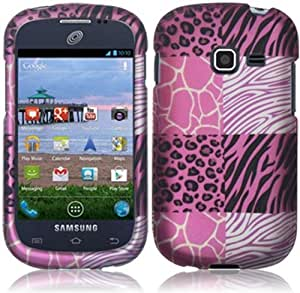 Samsung S738c S738 c Galaxy Centura Straight Talk Pink Exotic SKINs HARD RUBBERIZED CASE SKIN COVER PROTECTOR