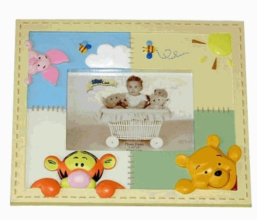 Soft & Fuzzy Pooh Picture Frame - 1