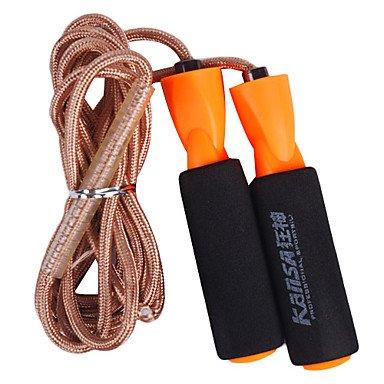 Zclsponge Handle Cotton Adjustable Skipping Rope Golden(3M)