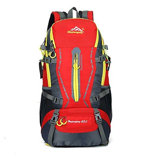 45L Viaggi Trekking Zaino Alpinismo - impermeabile borse da viaggio per arrampicata Alpinismo viaggiante Ciclismo, iParaAiluRy