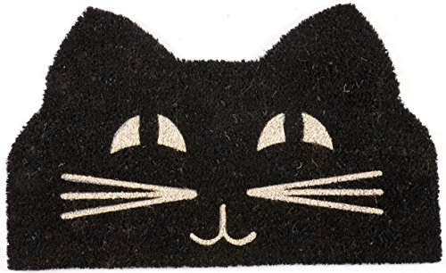 Entryways Cat Face Non Slip Coir Doormat
