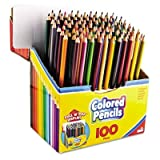 RoseArt Colored Pencils, 100-Count, Assorted Colors, Packaging May Vary (1055WA-4)