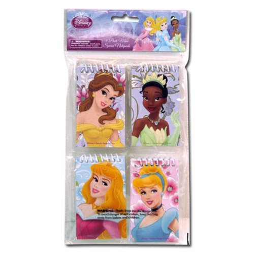 Disney Princess Cinderella, Belle, Aurora, And Tiana Notepad Pack (4 Pack) front-88001