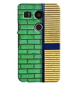 Blue Throat Brick And Window Pattern Printed Designer Back Cover For LG Google Nexus 5x