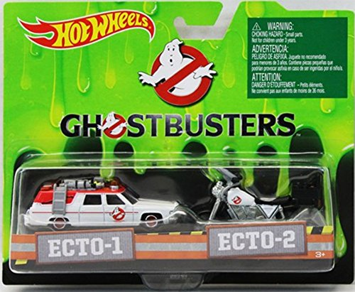 Ghostbusters 1:64 Diecast ECTO-1 and ECTO-2 Vehicles 1:64 Scale Collectible Die Cast Metal Toy Car Model