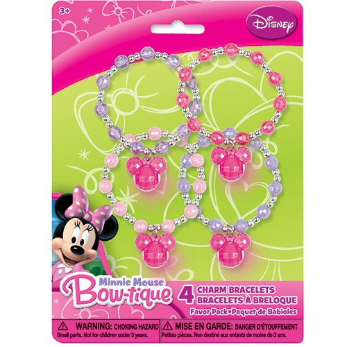 Minnie Mouse Minnie Mouse Charm Beaded Bracelets, 4 Count image