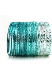 Shades of Teal Bangle Bracelet Set of 50 (Fifty)