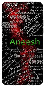 Aneesh (Supreme) Name & Sign Printed All over customize & Personalized!! Protective back cover for your Smart Phone : Samsung Galaxy E-7