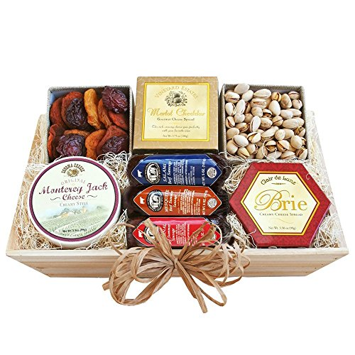 Meat, Cheese & Nuts Gift Assortment | Pistachios, Summer Sausage, Cheese & Dried Pears image