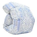 西川 羽毛布団 ホワイト ダック ダウン 85% 日本製 抗菌 防臭 AI771 (シングル:150×210cm, ブルー)