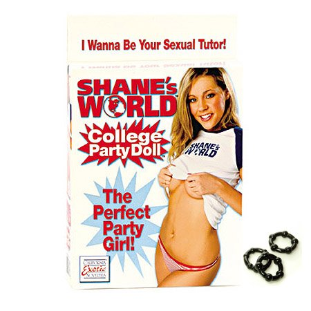 California Exotics / Swedish Erotica Shanes World College Party Love Doll Adult Sex Toy Kit