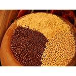 Senfkörner Gewürz, Senfsaat, ganz, braun, zum Kochen, Braten und Marienieren, 150g