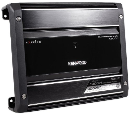 """Kenwood X500 """"X Series"""" 500 Watt Digital Mono Car Audio Amplifier With Small Footprint For Easy Installation Anywhere In Your Vehicle"""