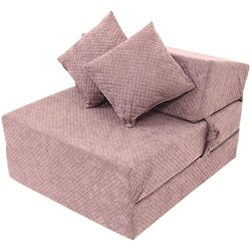 hikenn schlafsessel klappmatratze faltmatratze g stebett bettsessel sofa 200x70x15 dunkelbraun. Black Bedroom Furniture Sets. Home Design Ideas