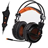 E-SDS SADES A6 USB PC Gaming Headset Surround Sound 7.1 Stereo Gaming Headphones Over Ear With High Sensitivity...