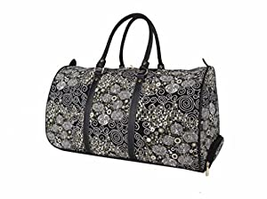 Signare Tapestry Wheeled Holdall / Pull Along Luggage in Gustav Klimt The Kiss Design
