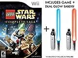 Nintendo Wii Lego Star Wars Complete Sage Game + Dual Glow Sabers [Wii]