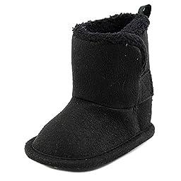 Gerber Cozy Faux Suede Winter Boot (Infant),Black,2 M US Infant