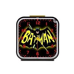 2buymore Clock Batman Custom Square Alarm Clock Travel Clocks 100% Quartz