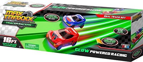 Skullduggery Kraz Kars Max Traxxx - Tracer Racers Starter Set - 16 Foot Track With 2 Tracer Racers