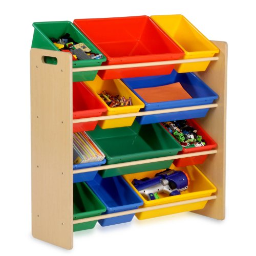 Honey-Can-Do SRT-01602 Kids Toy Organizer and Storage Bins, Natural/Primary (Corner Storage Bin compare prices)