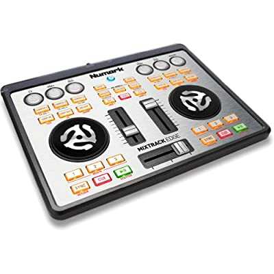 Numark Mixtrack Edge Slimline USB DJ Controller with Integrated Audio Output by Numark