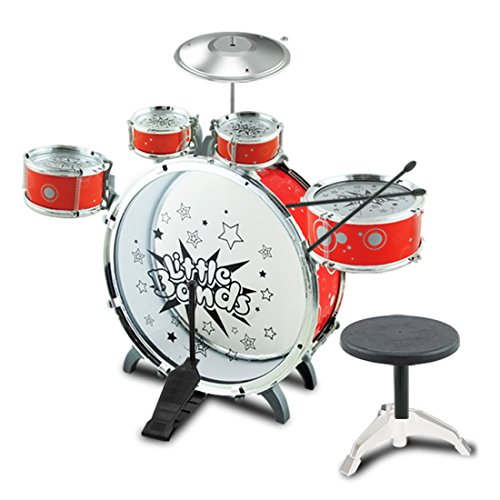 finer-shop-jazz-drum-set-musical-instrument-playset-with-5-drums-cymbal-kick-pedal-stool-drumsticks-