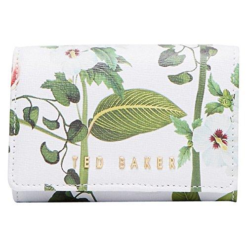 Ted Baker Berriz Secret Trellis floreale Mini Portafoglio bianco Cream