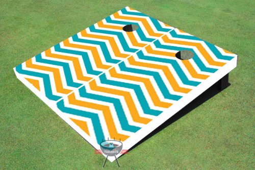 Any Color Designed Cheveron Design Theme Corn Hole Boards Cornhole Game Set