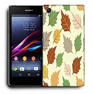 Snoogg Dark Leaves Printed Protective Phone Back Case Cover For Sony Xperia Z2