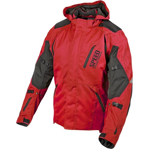 Speed and Strength Urge Overkill Men's Textile Sports Bike Motorcycle Jacket - Red/Black / 2X-Large