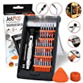 Jetfix Magnetic Precision Screwdriver SET with Magnetizer & Electronic Opener for iPhones, PC, Maintenance Samsung Galaxy, watch, Cell Phone, jewelers, Repair, Apple 6s Plus, Drone, All-in-one Tools
