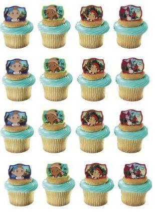 For Sale! 24 Jake & the Neverland Pirates Cupcake Decoration Rings