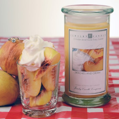 Peaches And Cream Ring Candle By Jewelry Candle Company